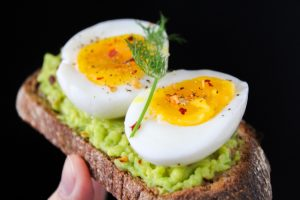 Avocado and eggs on toast